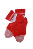 Knitted red socks Royalty Free Stock Image