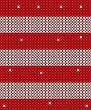 Knitted Red and white vector background design. Vector design for holiday Royalty Free Stock Photos