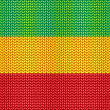 Knitted reggae pattern Royalty Free Stock Image