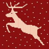 Knitted reindeer pattern stock illustration