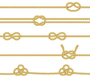 Knitted Rope Border Set Stock Photography