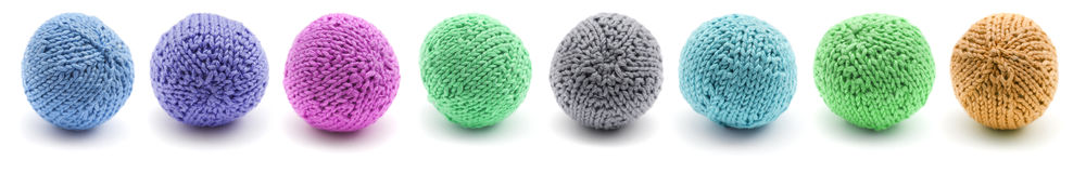 knitted round juggling ball Stock Image