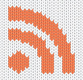 Knitted RSS Icon Stock Photos