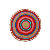 Knitted rug round Stock Image