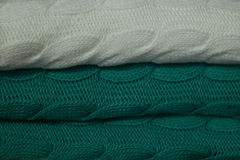 Knitted rugs Stock Image