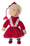 Knitted Santa girl with a skirt Stock Images