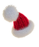 Knitted  Santa hat Stock Image