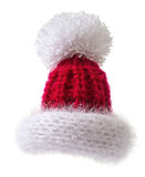 Knitted  Santa hat Stock Images