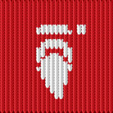 Knitted Santa. Vector illustration of a knitted Santa Claus Royalty Free Stock Images