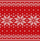 Knitted scandinavian texture. Knit Christmas seamless pattern. V Royalty Free Stock Photos