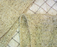 Knitted scarf of bamboo yarn Stock Photography