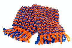 Knitted scarf and cap Stock Photo