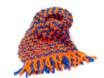 Knitted scarf and cap Royalty Free Stock Image