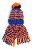 Knitted scarf and cap Stock Images