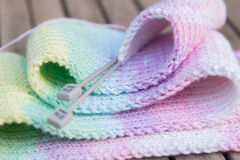 Knitted scarf closeup Stock Images