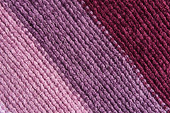 Knitted scarf detail - diagonal stripes Royalty Free Stock Photo