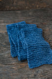 Knitted scarf Royalty Free Stock Images