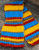 Knitted scarf Royalty Free Stock Photography