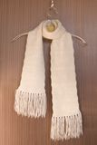 Knitted scarf on a hanger. Royalty Free Stock Images