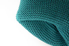 Knitted scarf isolated on a white background closeup Stock Photos