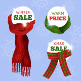 Knitted Scarf Sale Card Stock Image