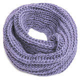Knitted scarf on a white background. Knitted winter scarf on a white background Royalty Free Stock Photos