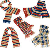 Knitted scarves Royalty Free Stock Photography