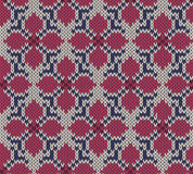 Knitted seamless  background with flower pattern Stock Images
