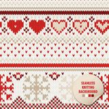 Knitted seamless background. Winter ornament. royalty free illustration