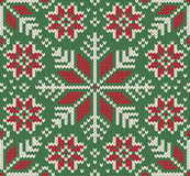 Knitted Seamless Christmas pattern Stock Photography