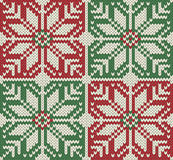 Knitted Seamless Christmas pattern Royalty Free Stock Image