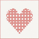 Knitted seamless christmas pattern Royalty Free Stock Photography