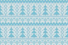 Knitted seamless Christmas tree print Royalty Free Stock Image