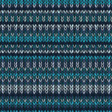 Knitted Seamless Color Striped Pattern Royalty Free Stock Photos