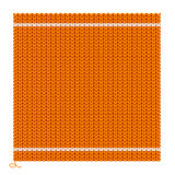 Knitted Seamless Orange Background. Vector Stock Images
