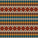 Knitted seamless pattern in Fair Isle style. EPS available Royalty Free Stock Photo