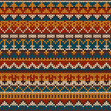 Knitted seamless pattern in Fair Isle style. EPS available Stock Photography