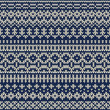 Knitted seamless pattern in Fair Isle style. EPS available Stock Photos