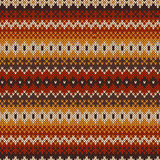 Knitted seamless pattern in Fair Isle style. Royalty Free Stock Image