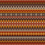 Knitted seamless pattern in Fair Isle style Royalty Free Stock Images
