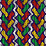 Knitted seamless pattern with intertwining lines Stock Image