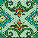 Knitted Seamless Pattern mainly in blue and green Stock Photography