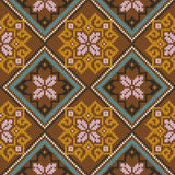 Knitted Seamless Pattern mainly in brown hues Royalty Free Stock Images