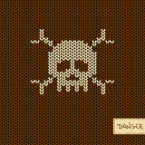 Knitted Seamless Pattern Or Background With Skull Royalty Free Stock Photos