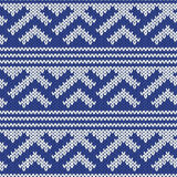Knitted Seamless Pattern in Retro Style Stock Photos