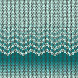 Knitted seamless pattern, shevron wool embroidery Royalty Free Stock Image