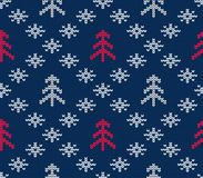 Knitted seamless pattern for sweater. Winter background. Vector eps 10 Royalty Free Stock Image