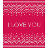 Knitted seamless pattern. Vector pink texture. Stock Photo