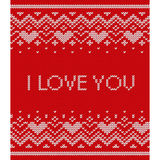 Knitted seamless pattern. Vector red texture. Stock Image