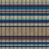 Knitted Seamless Striped Pattern Royalty Free Stock Photo